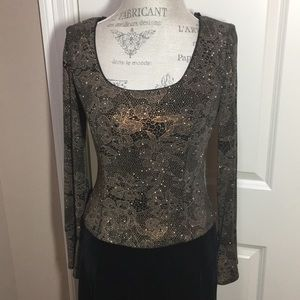 ⬇️ Patra Formal Gown Sz 8 Velvet Black Worn 1x EUC